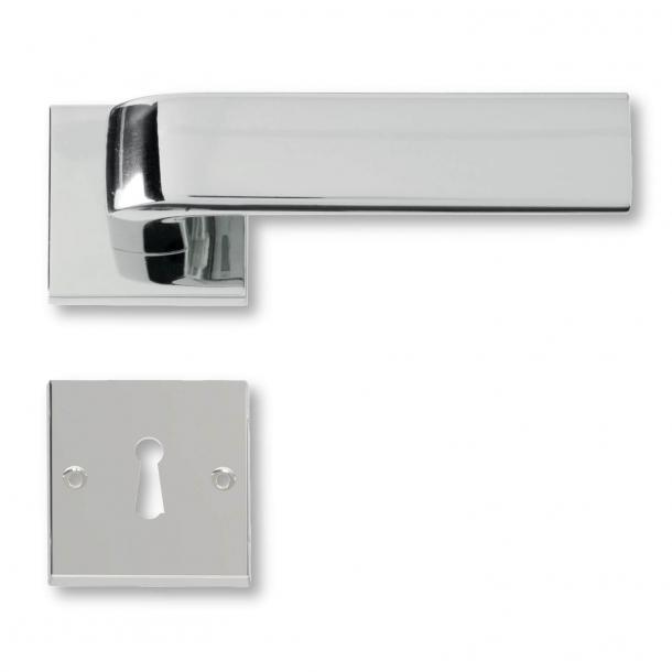 Dörrhandtag inomhus Glänsande krom - 1930-talet - C05411