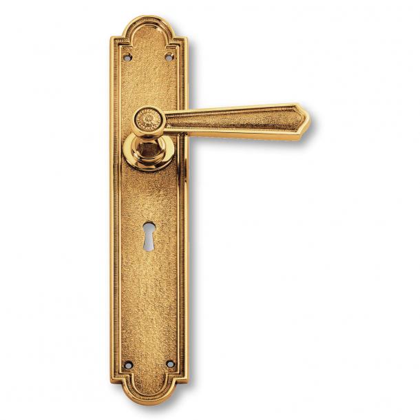 Invändig mässing dörrhandtag - långskylt - Second Empire - modell C13510