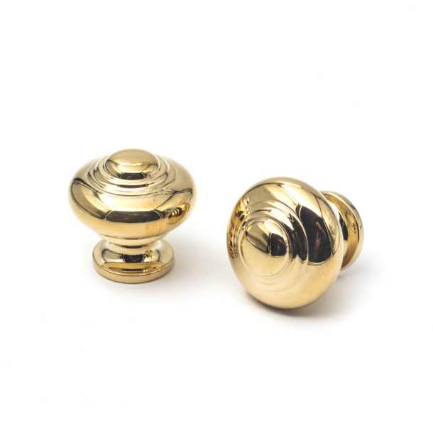 Furniture knob 102 - Brass without lacquer - 25