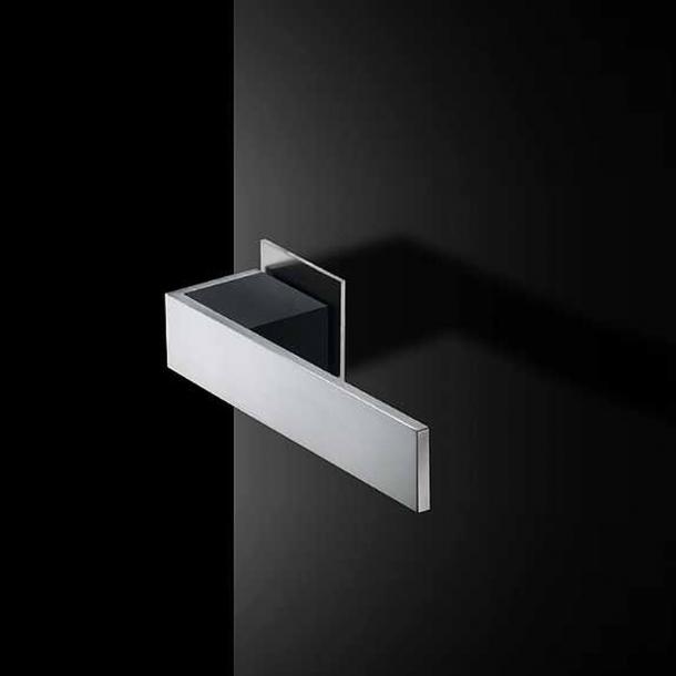 Randi dörrhandtag SQUARE - Höger - Rostfritt stål och svart komposit - Friis og Moltke Design