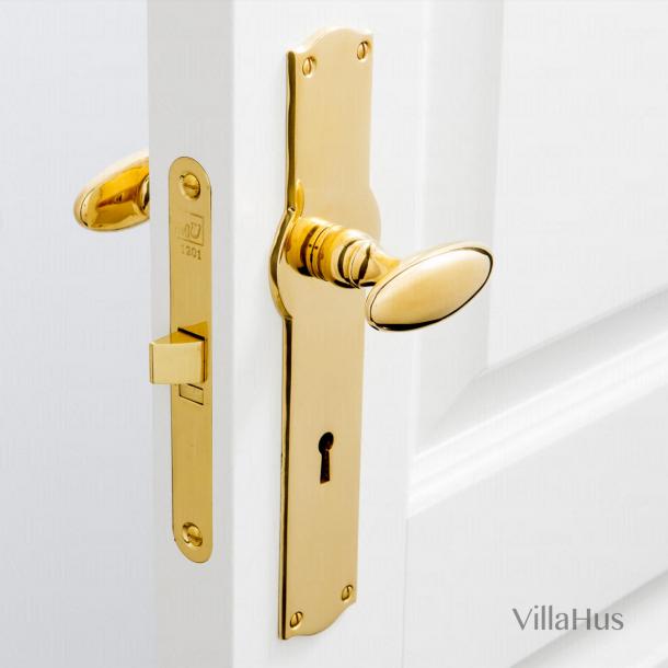 Mässing dörrhandtag - BLENHEIM inkl. täckbricka / nyckelhålet