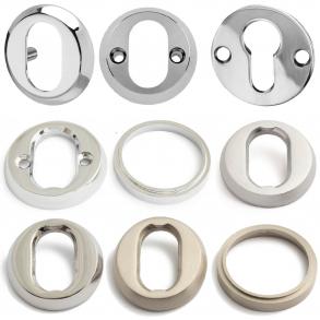 Cylinderring - krom / nickel