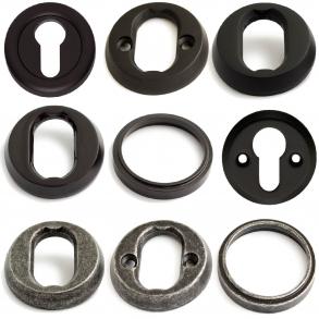 Cylinderring - Svart / Tenn