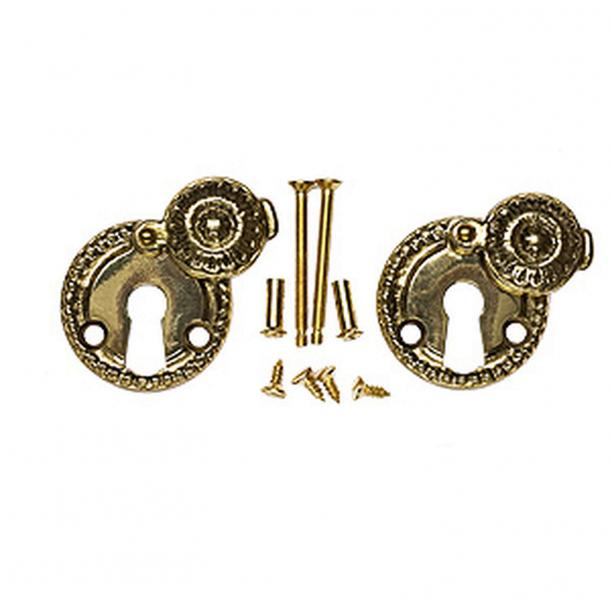 Nyckelskylt 1671 A Almue - Nya dörrar - Mässing