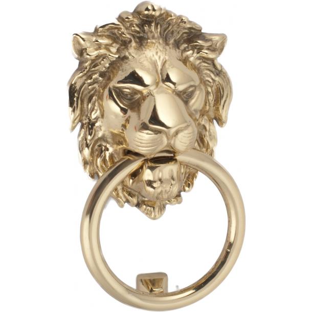 Dörrhammare lejonhuvud, mässing, 180x110 mm (202710)