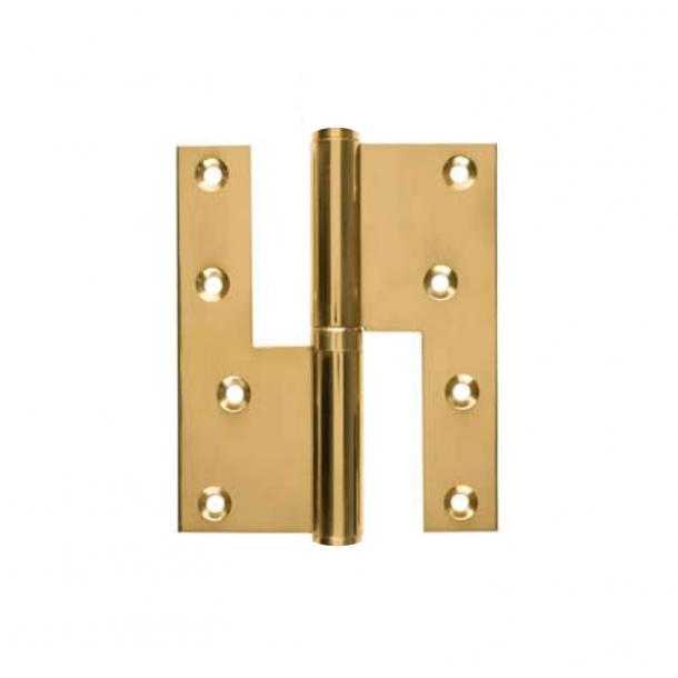 Dörr gångjärn, Höger - 115 x 34 mm - Kvadrat - mässing - rostfritt stål stud