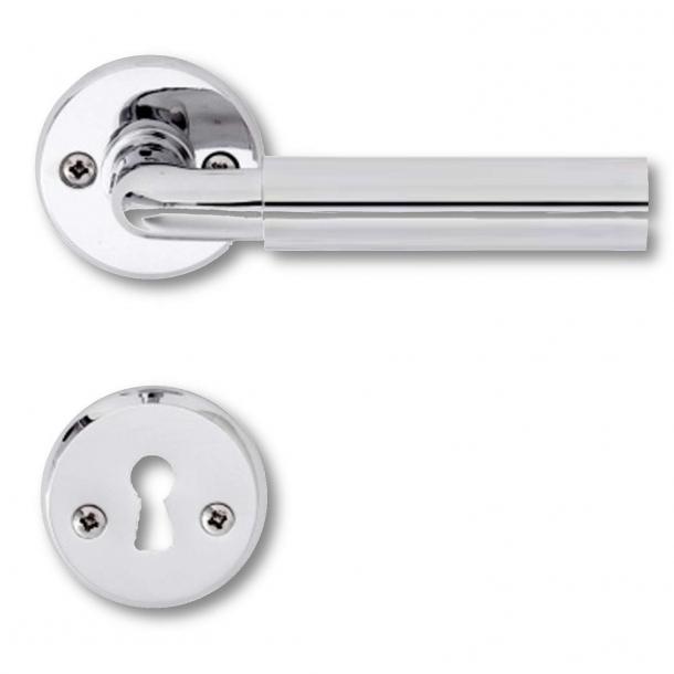 Dörrhandtag Krom och aluminium - Funkis
