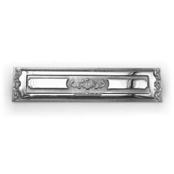 Letter frame with flap - Polished chrome - BAL - Model 1261 - 330 x 77 mm