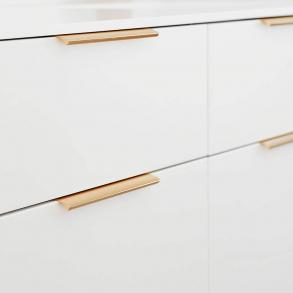 Möbelhandtag EDGE - Svart, Mässing, Koppar och Stål (40/200/350mm)