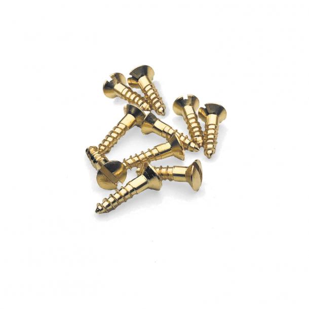 Brass wood screws - Slotted - 3x12 mm (10 pcs.)