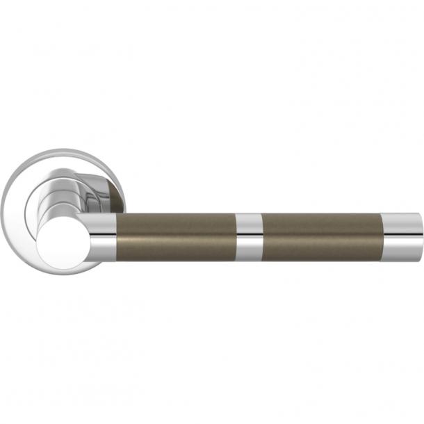 Turnstyle Design Dörrhandtag - Amalfine - Silverbrons / Glansigt krom - Model P2771