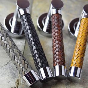 Dörrhandtag R2076 - Läderhandtag - Vävt fatformat