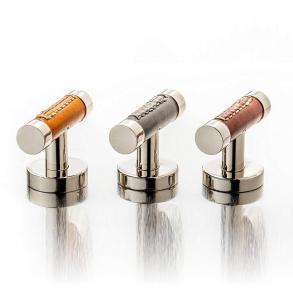 Turnstyle Design T-Bar - Barrel Stitch out Cabinet - Leather - Model R1026