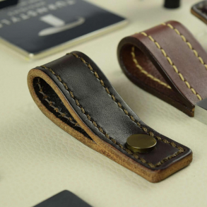Turnstyle Design - Button Stitched Leather - Loop Strap - Model U1189